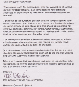 letter from a teacher