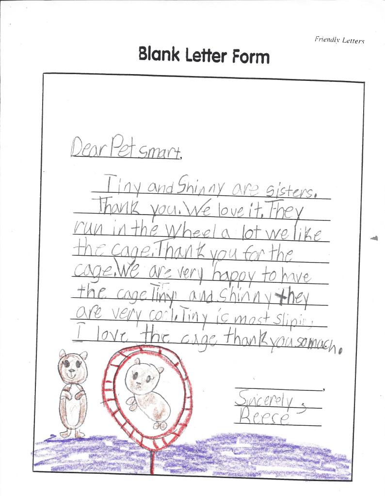Blank letter form