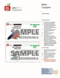 Betta Fish Coupon Sample