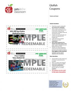 Glofish Grant Coupons Sample