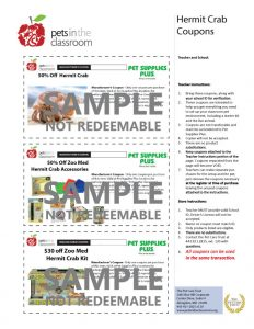 Hermit Crab Grant Coupons Sample