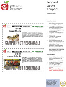 Leopard Gecko Grant Coupons Sample