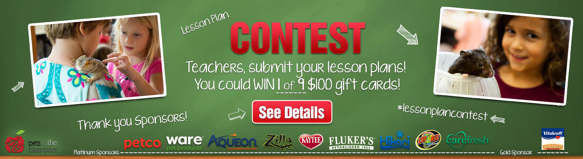 2019 Pets in the Classroom Lesson Plan Contest