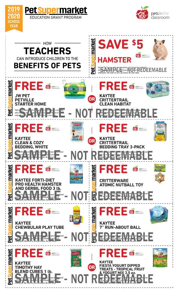 Pet Supermarket Grant Coupon Samples | Education Grants